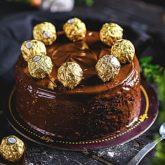 Ferrero Rocher cake 2.5 lbs from Delizia